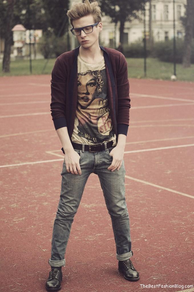 modern hipster man stylet