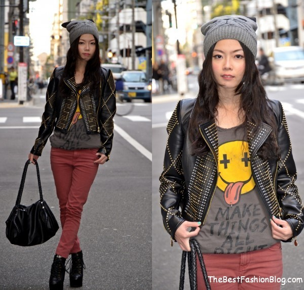 casual winter outfit for woman