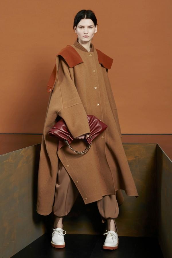 orange maxi coat for winter