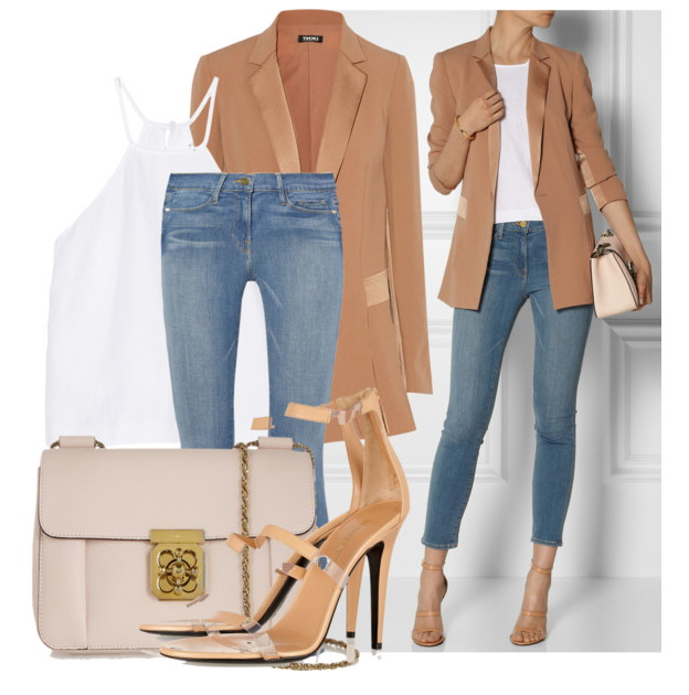 casual camel women's blazers & suit jackets with jeans