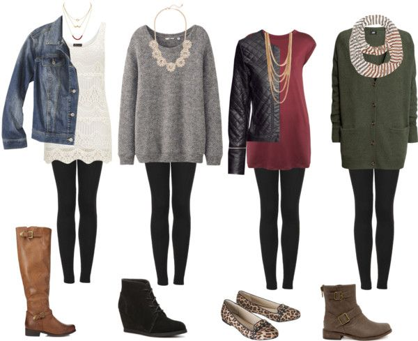 outfits with leggings under a dress