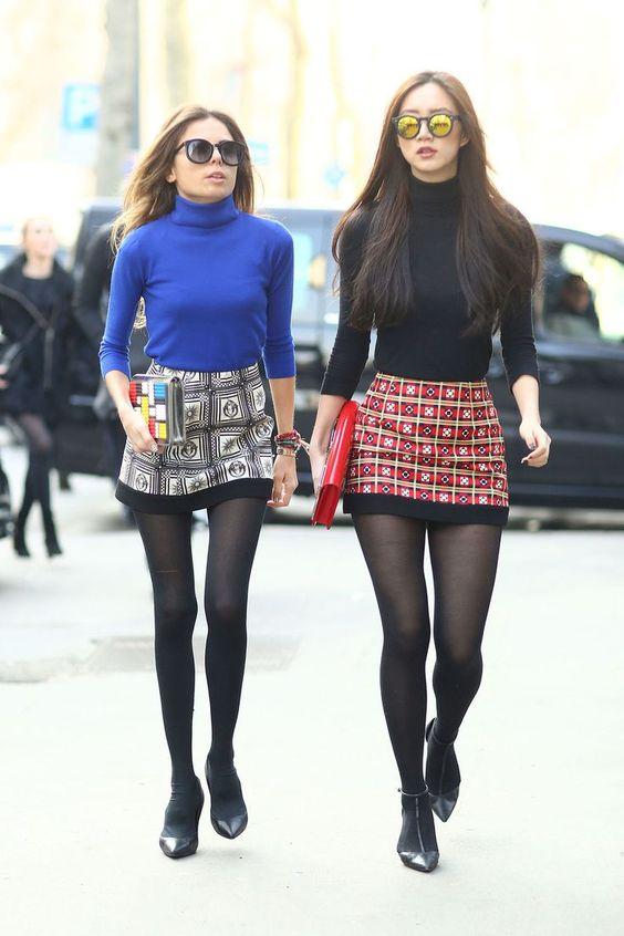 plaid mini skirt for autumn winter