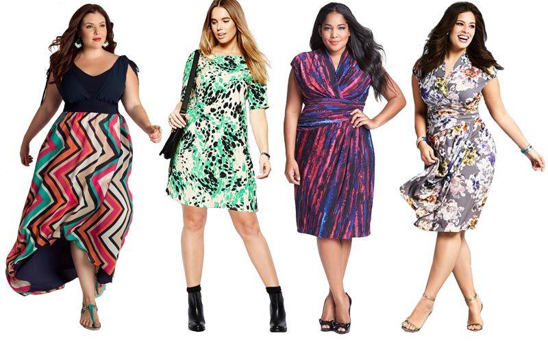 printed big size dresses
