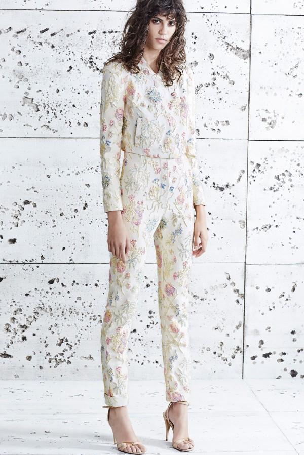 floral women's pant suits