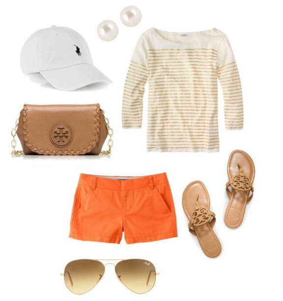 summer outfit with baseball hat