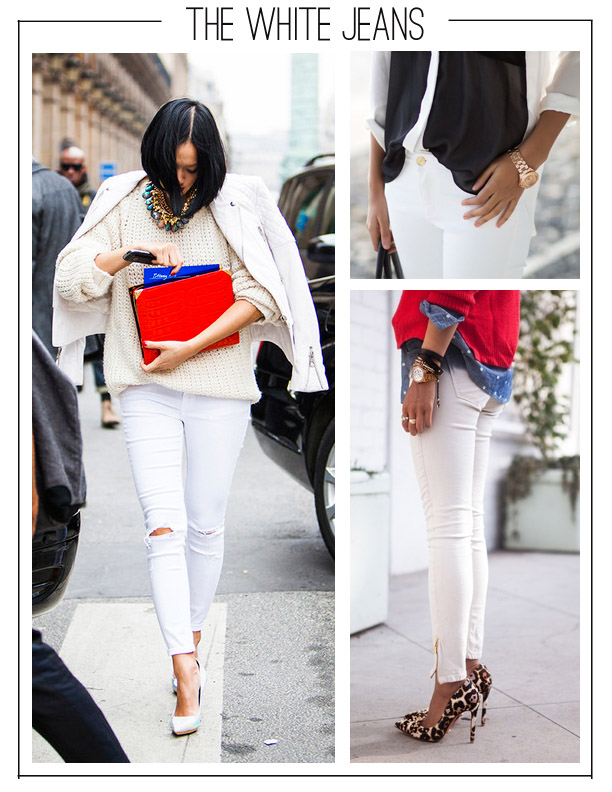 How to Style White Jeans for Fall | Habitually Chic