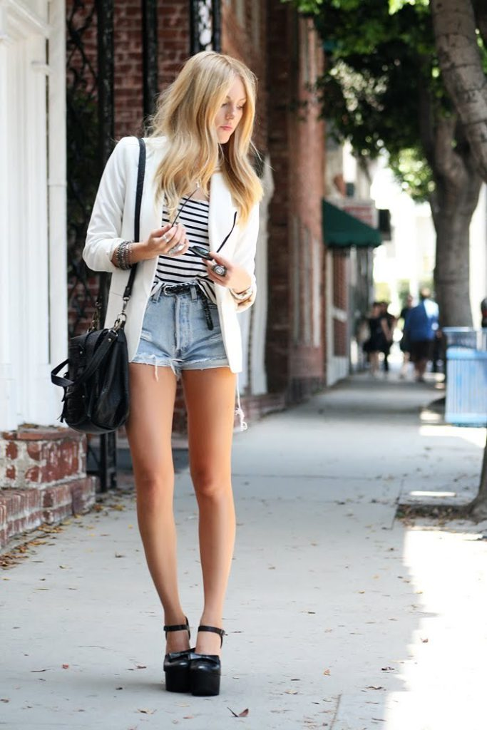 style with blazer and heels
