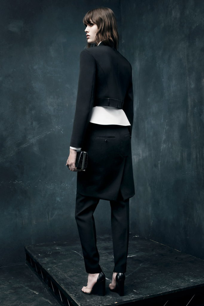 trendy black suit