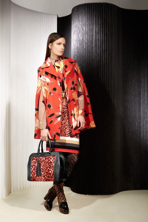 trendy printed outfit for winter