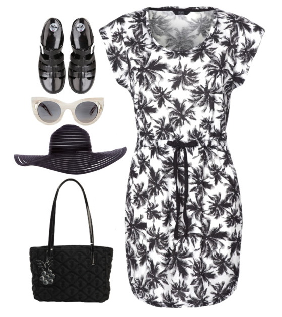 dress outfit with accessories