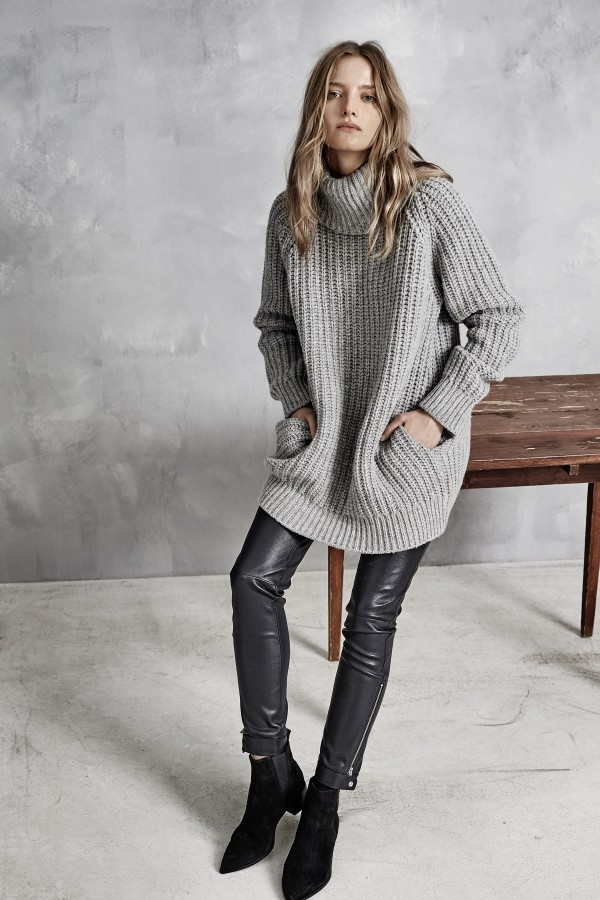 long gray turtleneck sweaters for winter