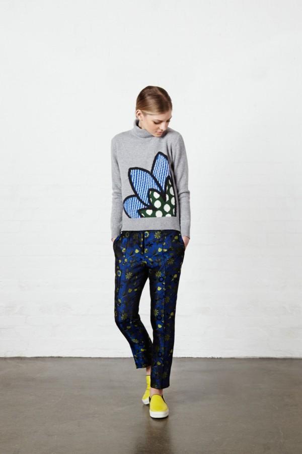 printed turtleneck sweaters