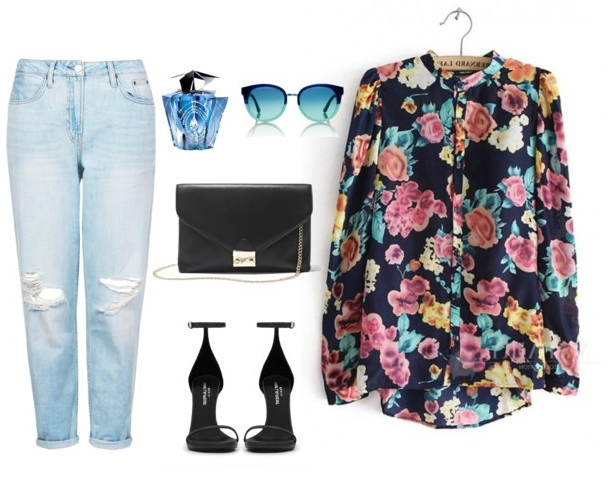 floral blouses with jeans