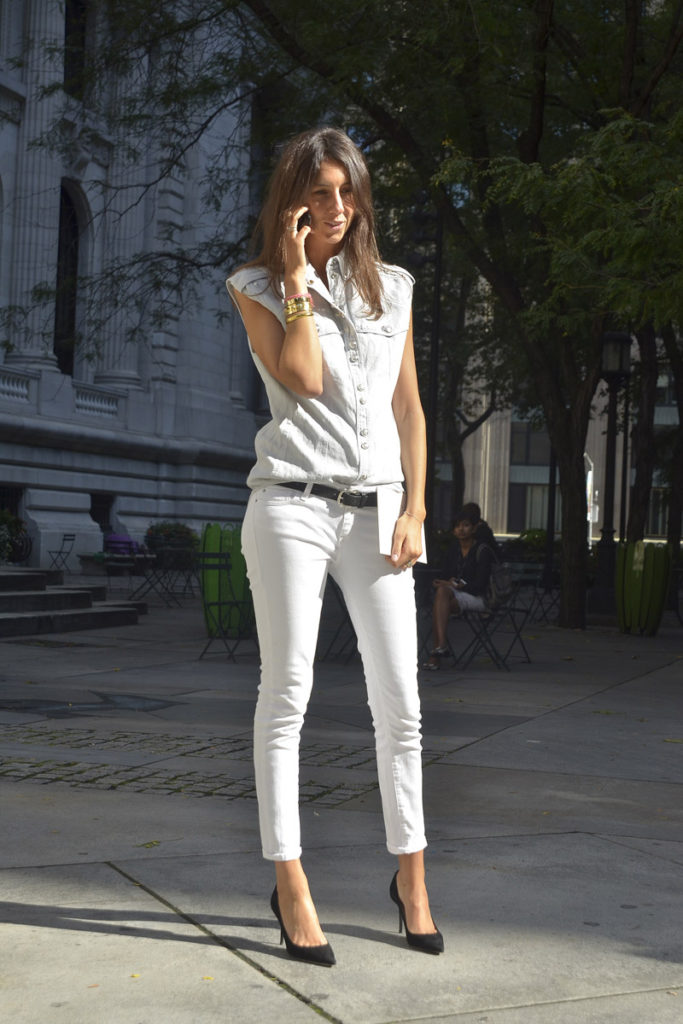 white outfit with pants
