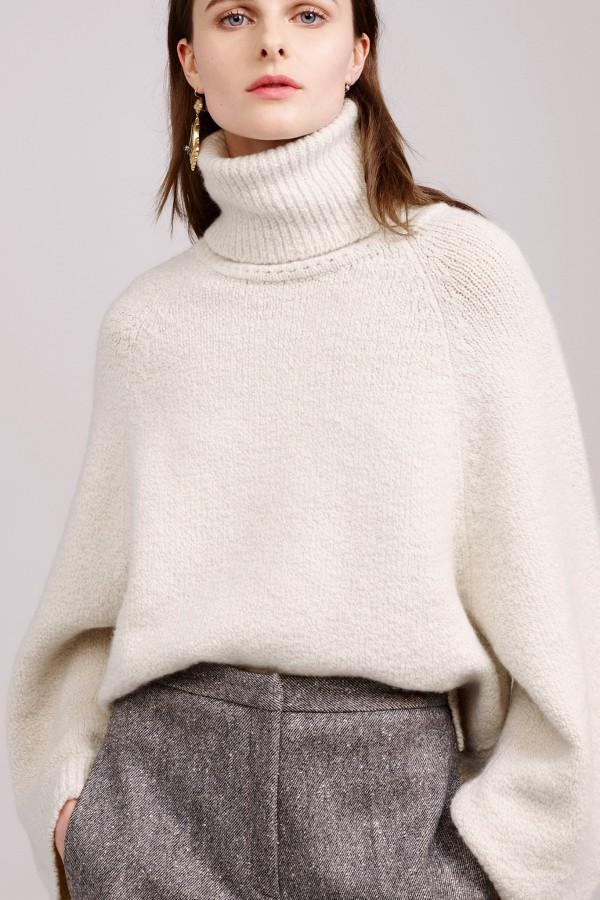 white winter sweater