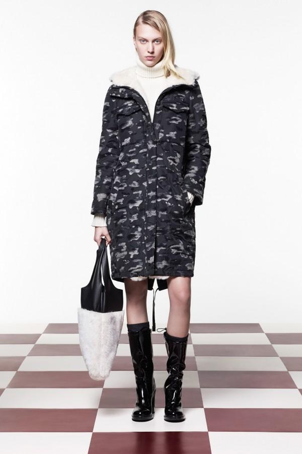 long winter army coat