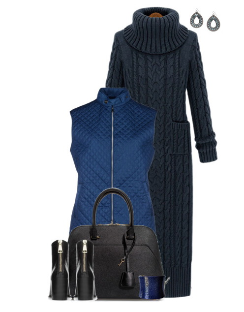 turtleneck cable knit ensemble