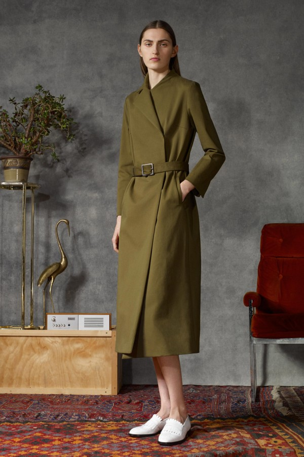 long olive military coats & jackets