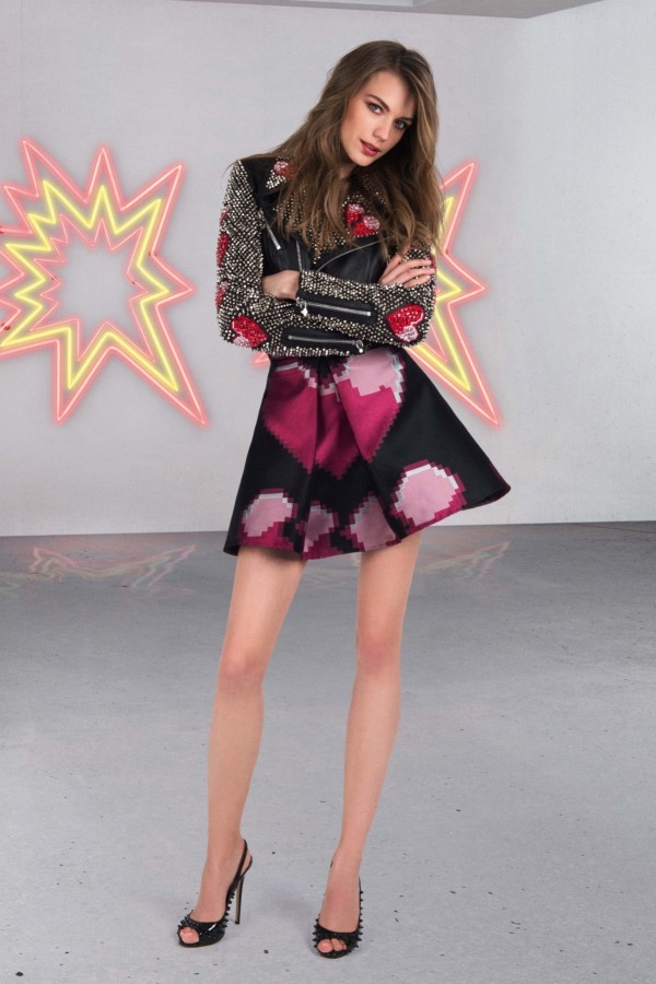glam rock outfit with dress