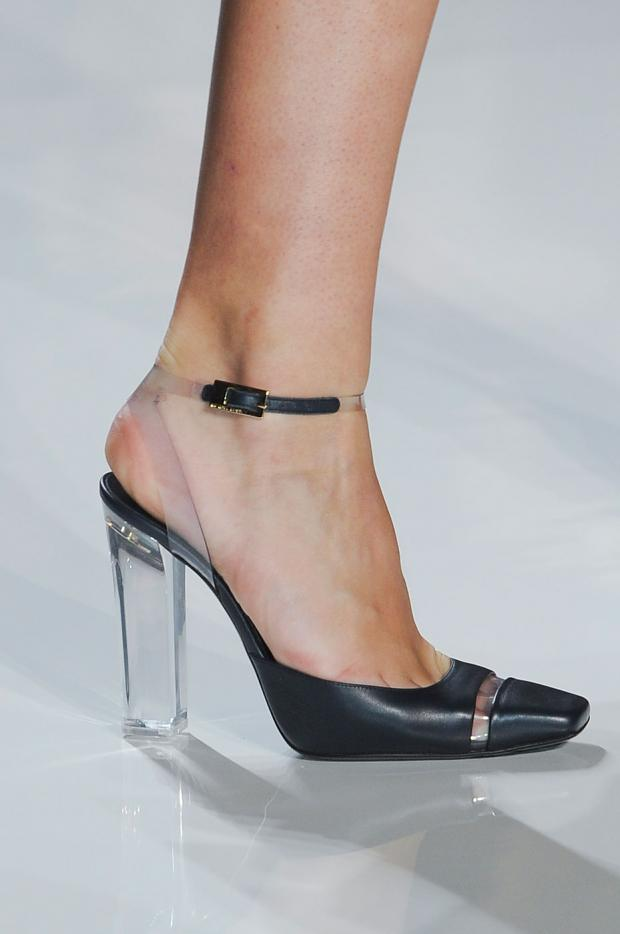 black plastic shoes