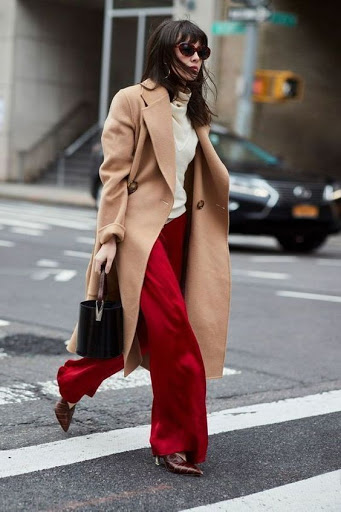 work outfits with camel coats