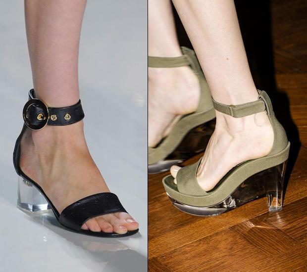 women's transparent heels
