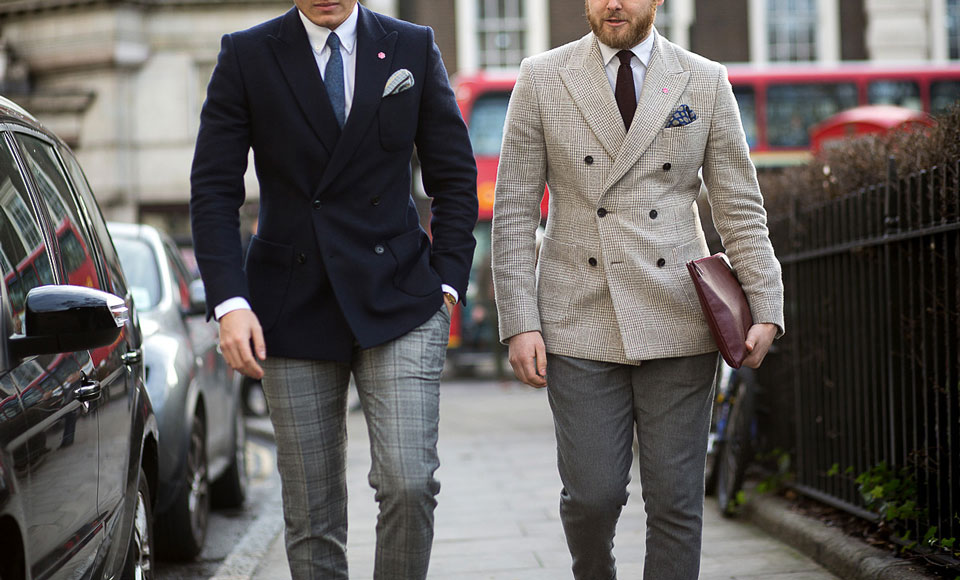men double breasted suits