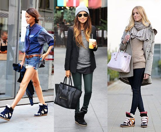 how to wear wedge sneakers