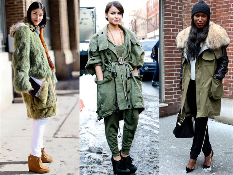 trendy women's parkas