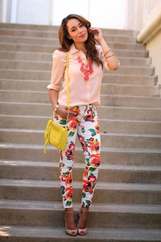 floral women's pants