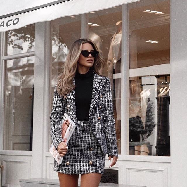 trendy skirt suits