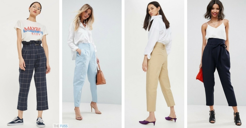 trendy ways to wear peg leg trousers