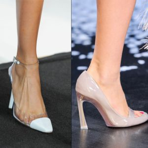 spring summer trend clear plastic shoes styles