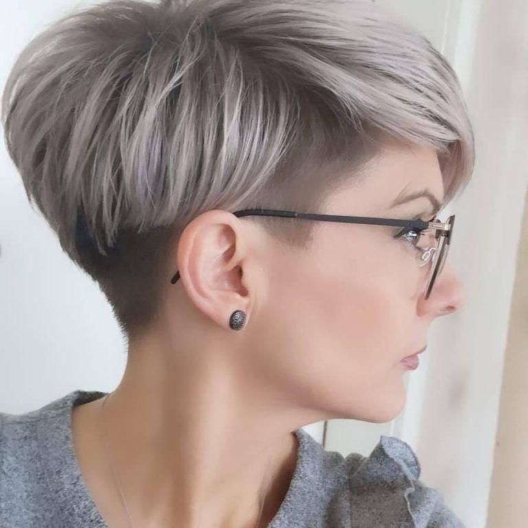 white pixie hair
