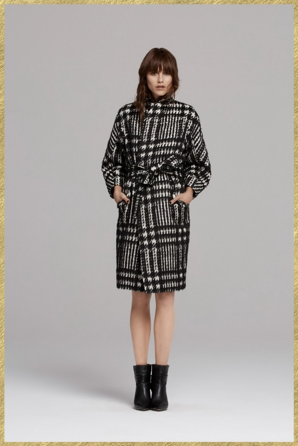1970's fall women's plaid coat