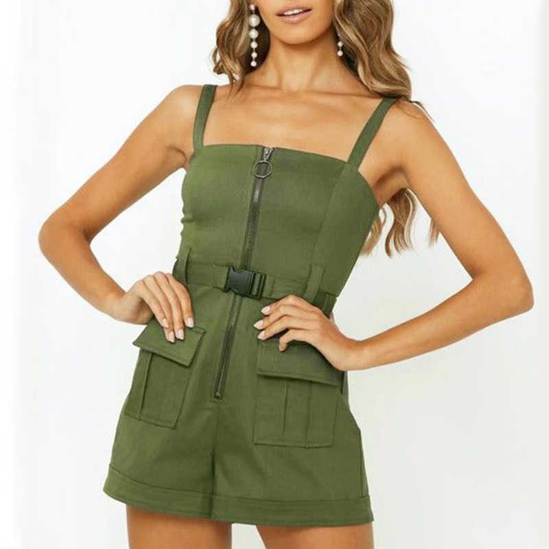 military green summer look for women
