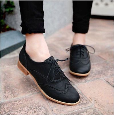 women's black oxford shoes