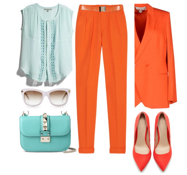 women's work outfits in bright colors