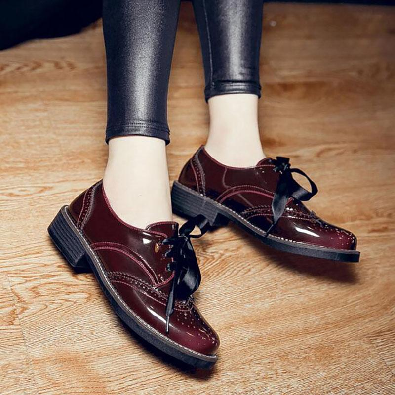 women's bordeaux oxford shoes