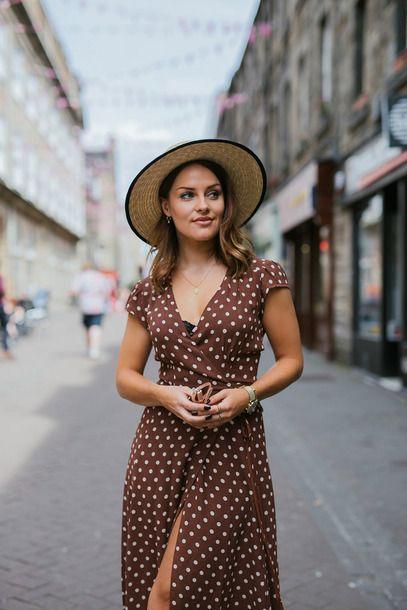 brown wrap dresses