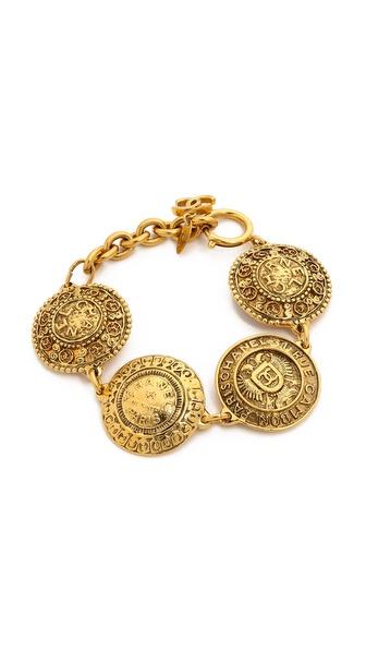 women's gift chanel Filigree coins bracelet