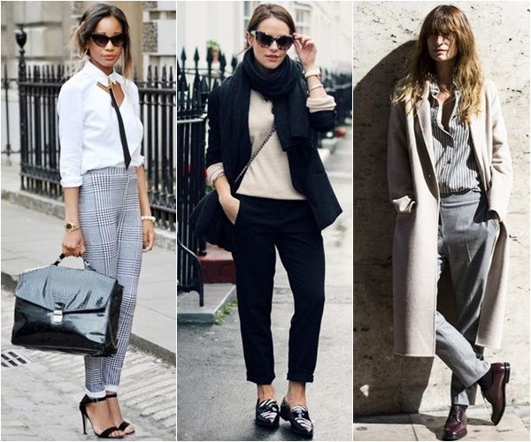 chic casual masculine tailoring for women