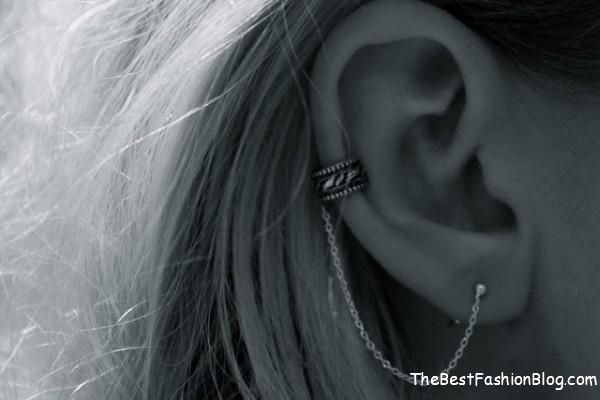 trendy ear cuffs in chain
