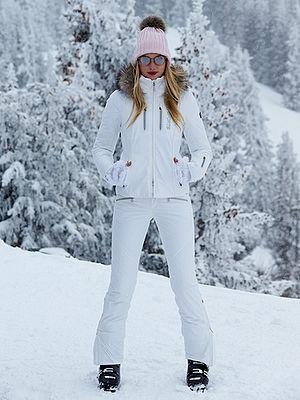 white ski  clothing for women