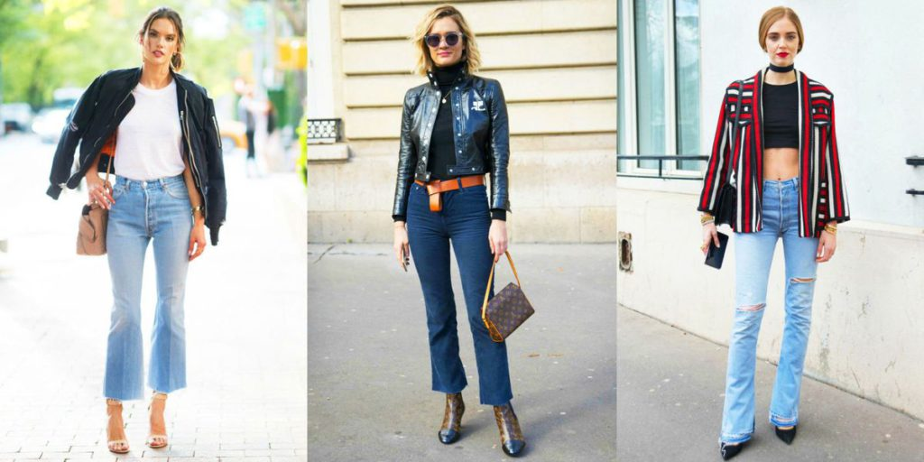 women's looks with classic bootcut jeans