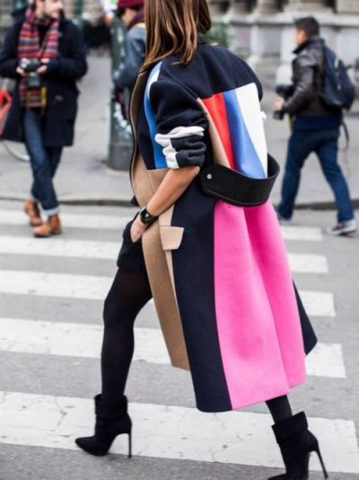 women's color block coats for fall winter
