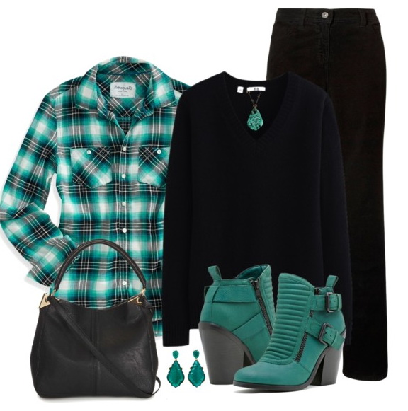women's green fall outfit
