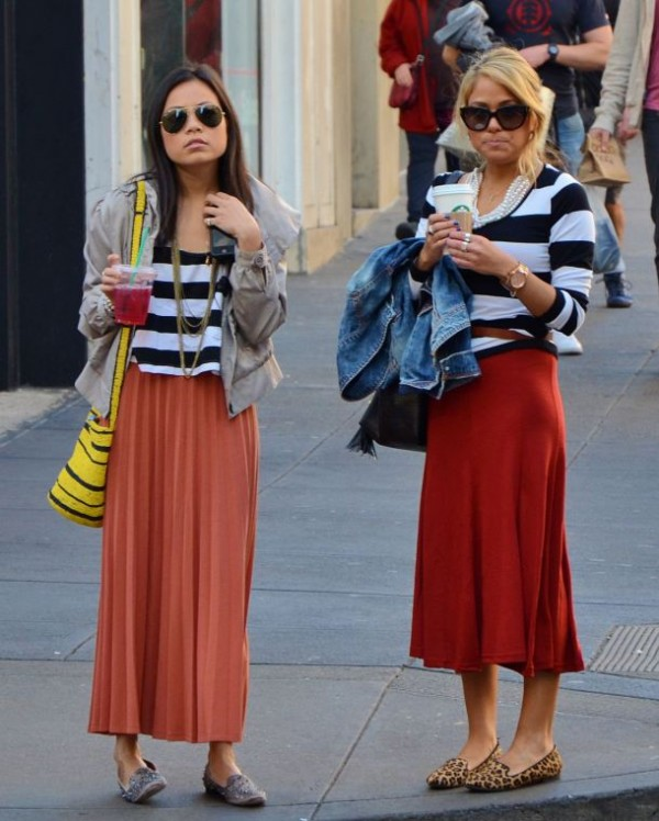 loafers with maxi skirt