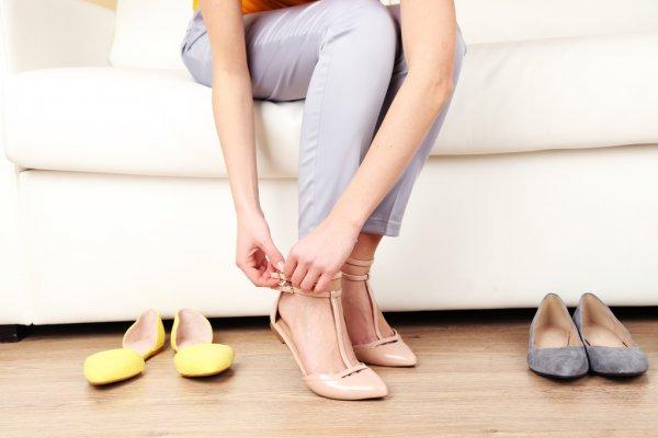 pastel flat ballerinas shoes