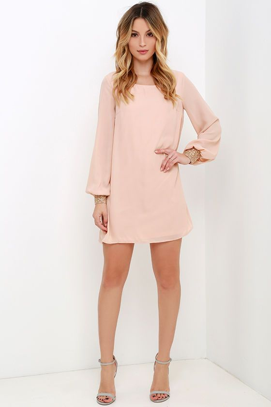 pink chic shift dresses